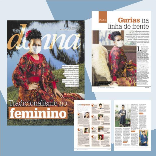 Trabalho da patrona Liliana Cardoso é pauta do caderno Donna, da Zero Hora